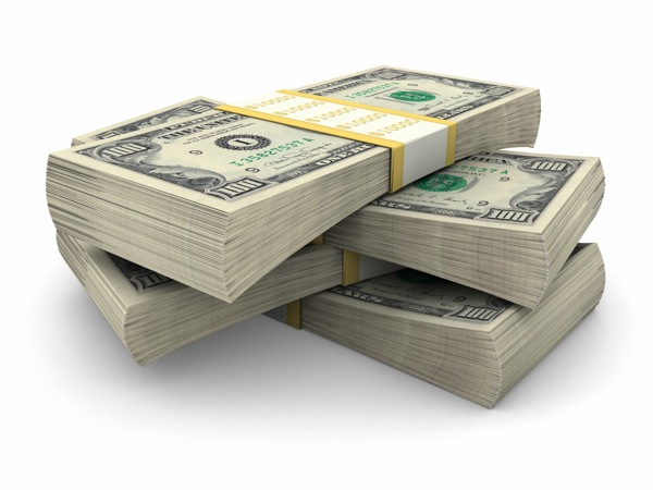 Money bills dollars stack
