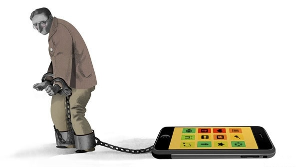 Slave smartphone phone technology multitasking productivity