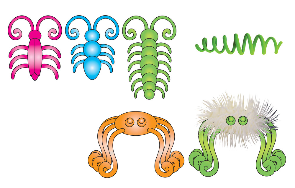 Coil Critter Illustrations