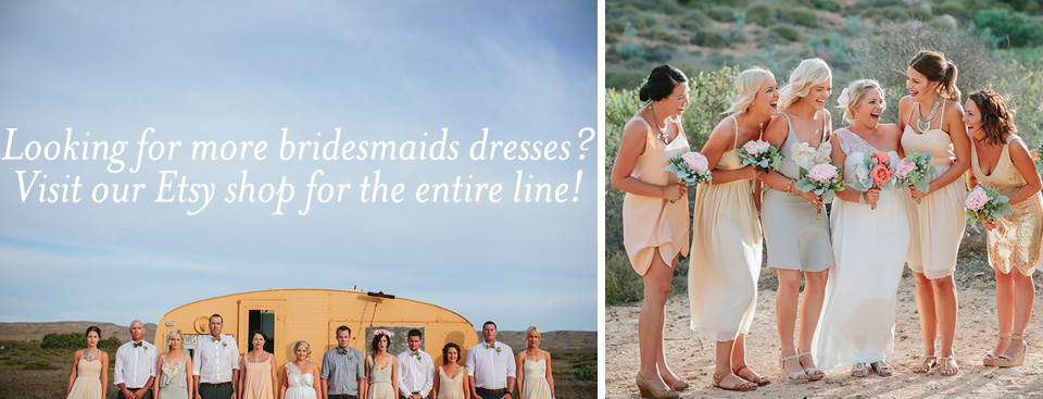 Images above courtesy of POLKADOTBRIDE, by Merge Photo Australia. Bridesmaids dresses by Dahl--others groups' own...
