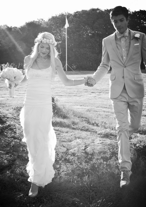 """Alison wearing her """"Ina"""" gown, which was ultimately the beginning of Dahl wedding attire..."""