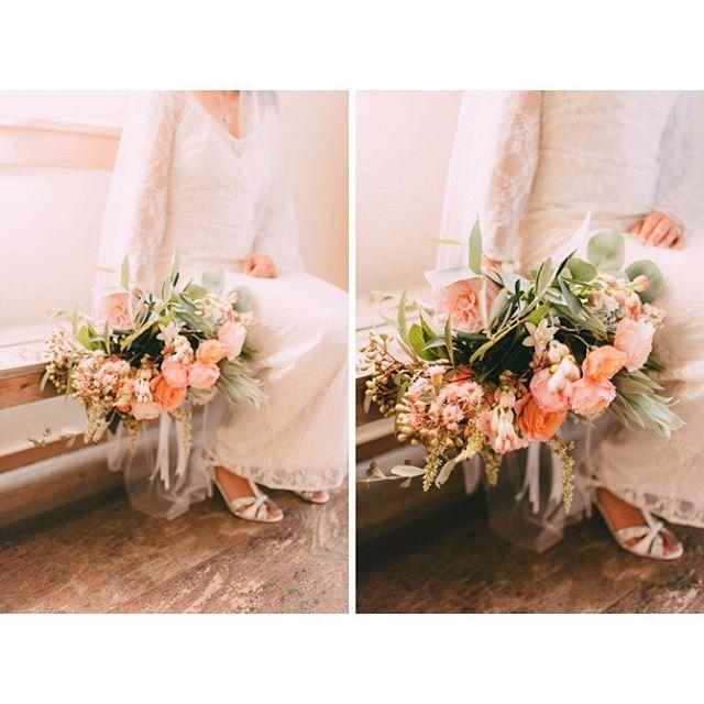Another gorge shot from @mishamartinhammond 's wedding day, wearing the Isobel gown with a stunning #bouquet #weddingbouquet #wildflowers #boho #bohobride #bridalinspo #weddingday