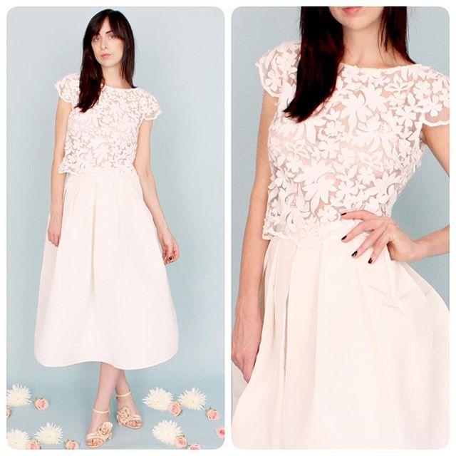 ❄️Our Tulipe top is a lovely accessory to a tea length silk skirt for any season... #weddingtop #bridalinspiration #weddingdress #bride #bridalfashion