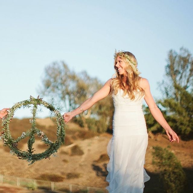 Our lovely bride Sam in the ethereal Ina #weddingdress  #peace #love #boho #bride