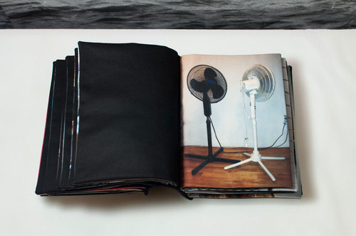 Self Notes, Digital Prints on Fabric in Bound Book, 2014
