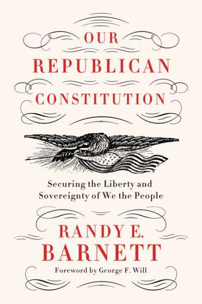 "A concise history of the long struggle between two fundamentally opposing constitutional traditions, from one of the nation's leading constitutional scholars—a manifesto for renewing our constitutional republic.  The Constitution of the United States begins with the words: ""We the People."" But from the earliest days of the American republic, there have been two competing notions of ""the People,"" which lead to two very different visions of the Constitution.  Those who view ""We the People"" collectively think popular sovereignty resides in the people as a group, which leads them to favor a ""democratic"" constitution that allows the ""will of the people"" to be expressed by majority rule. In contrast, those who think popular sovereignty resides in the people as individuals contend that a ""republican"" constitution is needed to secure the pre-existing inalienable rights of ""We the People,"" each and every one, against abuses by the majority.  In Our Republican Constitution, renowned legal scholar Randy E. Barnett tells the fascinating story of how this debate arose shortly after the Revolution, leading to the adoption of a new and innovative ""republican"" constitution; and how the struggle over slavery led to its completion by a newly formed Republican Party. Yet soon thereafter, progressive academics and activists urged the courts to remake our Republican Constitution into a democratic one by ignoring key passes of its text. Eventually, the courts complied.  Drawing from his deep knowledge of constitutional law and history, as well as his experience litigating on behalf of medical marijuana and against Obamacare, Barnett explains why ""We the People"" would greatly benefit from the renewal of our Republican Constitution, and how this can be accomplished in the courts and the political arena."