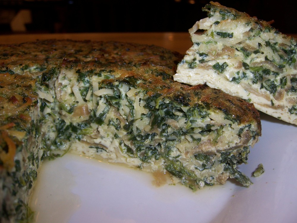 Spinach Kugel Soufflee from Kenny & Ziggy's.