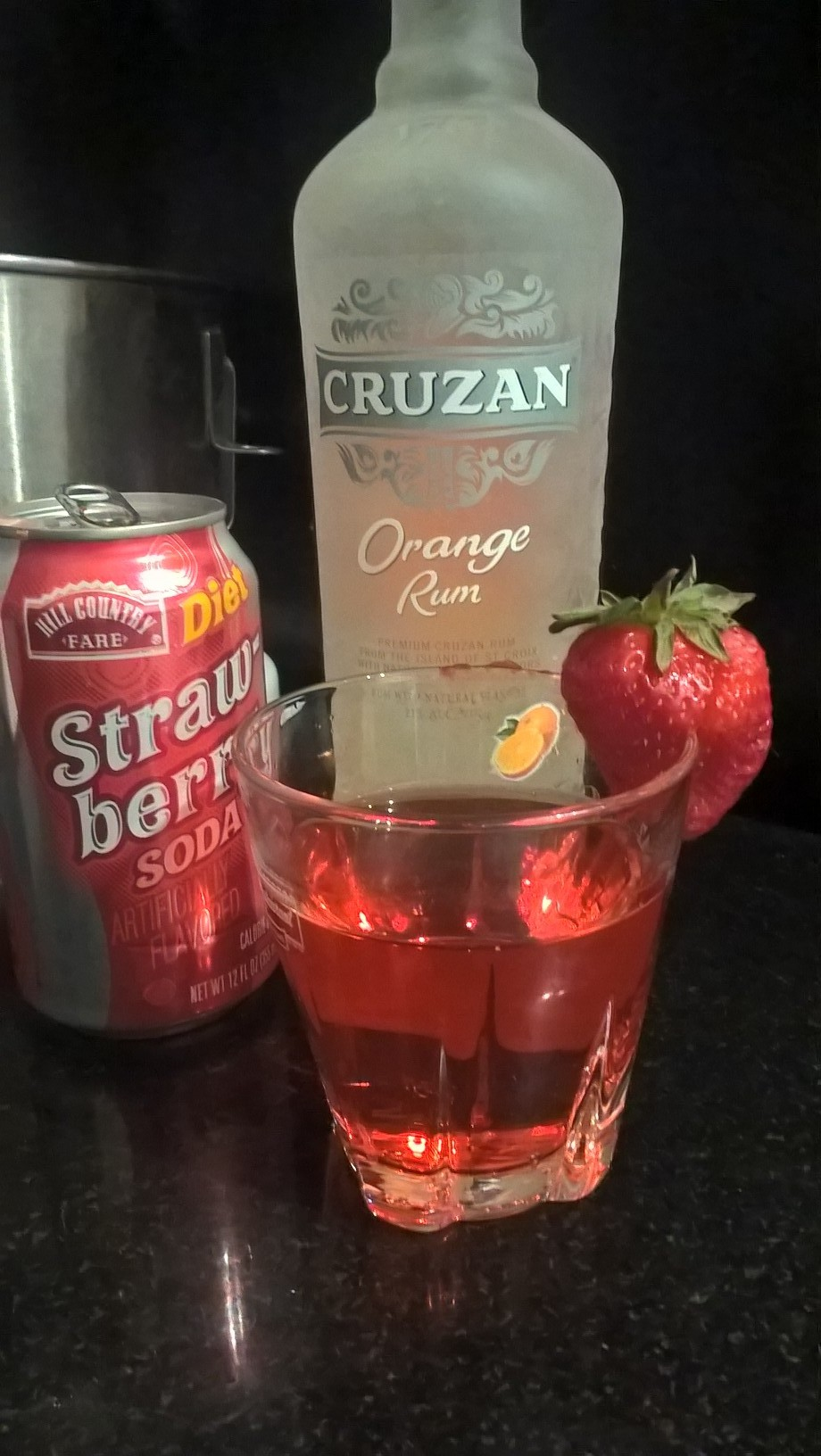 My invention: Cruzan Skinny Orange Strawberry Fields Forever