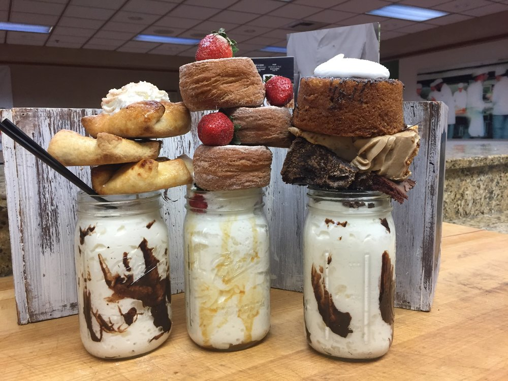 Yes, there are THREE cronuts on that middle shake.