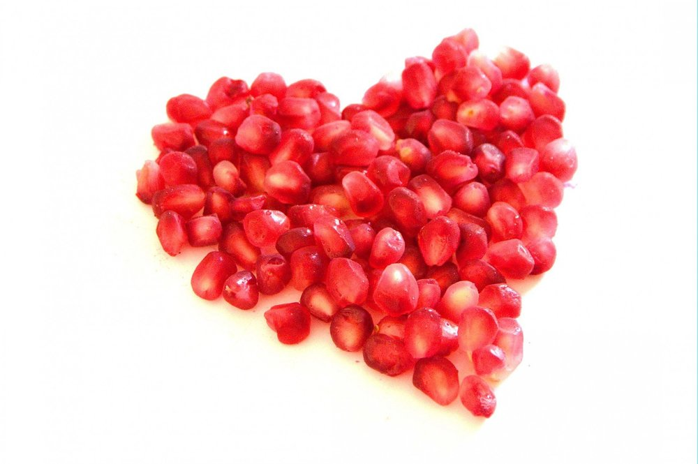 I also heart pomegranates.
