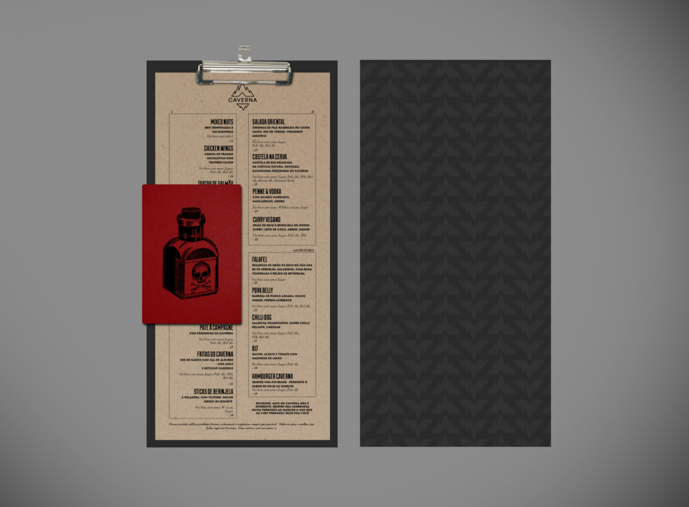 Menu and cocktail menu (mockup)