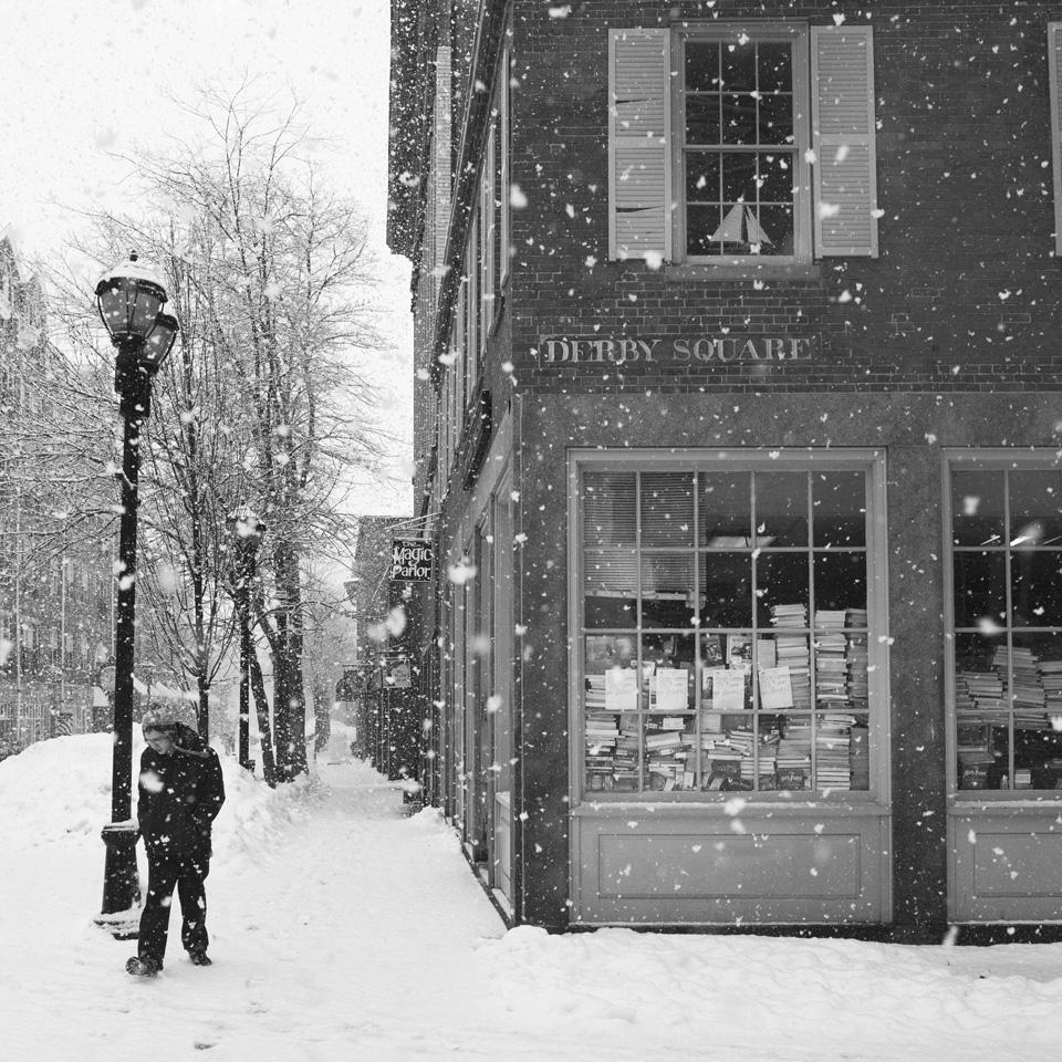 snow, books & boy | salem, ma 2014