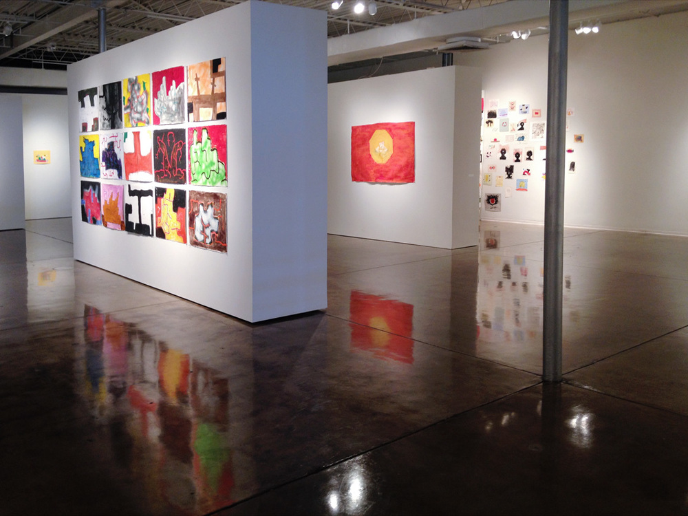 chuck webster @ ok contemporary, 2014 (partial view)