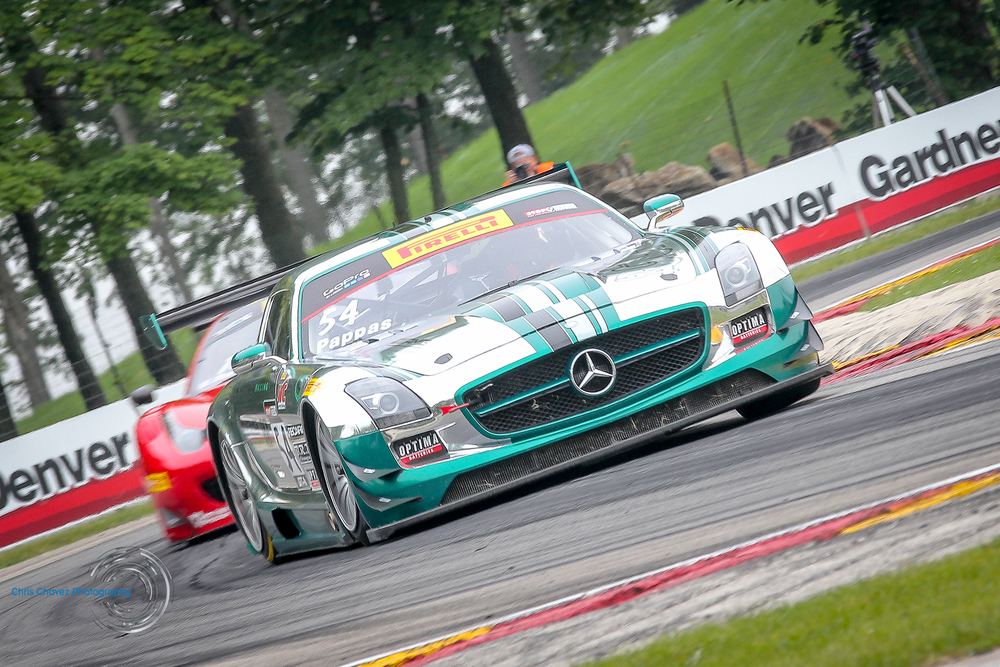 #54 Tim Pappas With Black Swan Racing in Mercedes AMG SLS