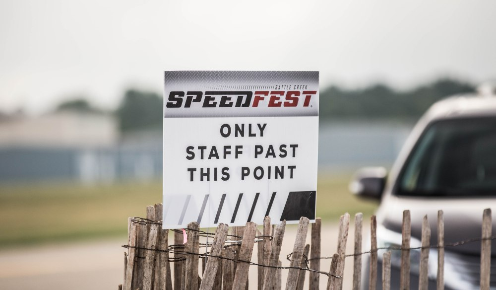 After entering the main gate you are required to be escorted across the airport to the designated vendor/racer area.  (Click on Image to visit Kayla Ringle Photography)