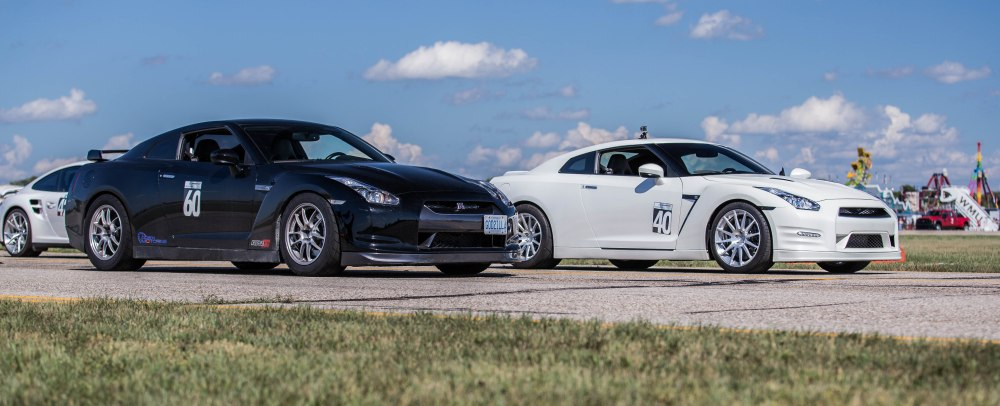 "Two GTRs getting ready for ""take-off""."