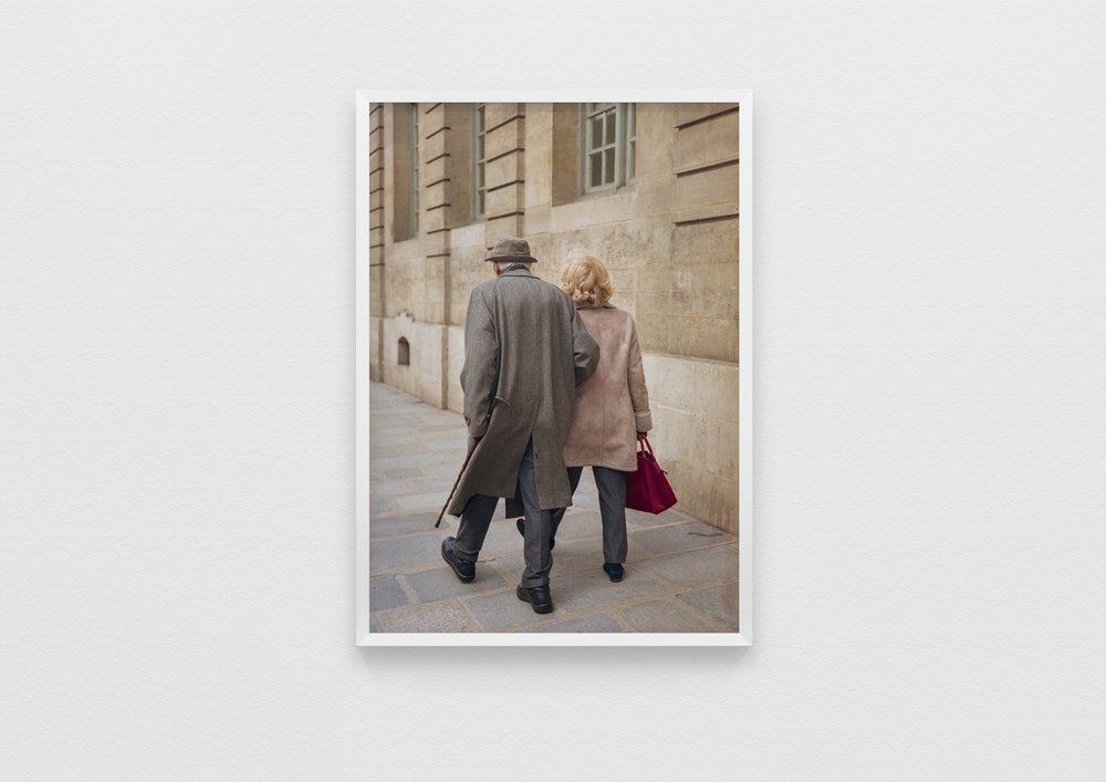 'passion,' he replied when asked what made a relationship last. 'trust,' said his mistress. — a portrait of the happy couple.  Paris, France 2019  50 x 70 Archival Print