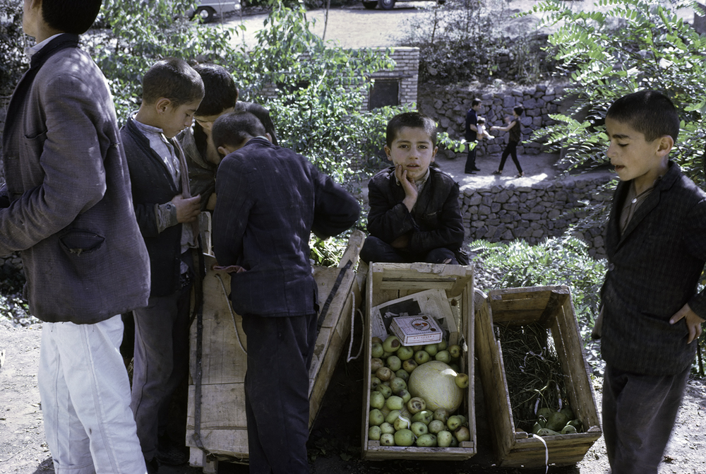 Boys at Vegetable Stand, Iran 1967