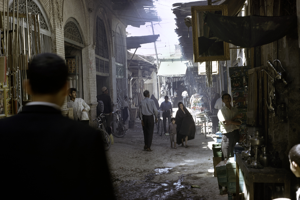 Morning Shoppers at Shiraz Bazar, 1967