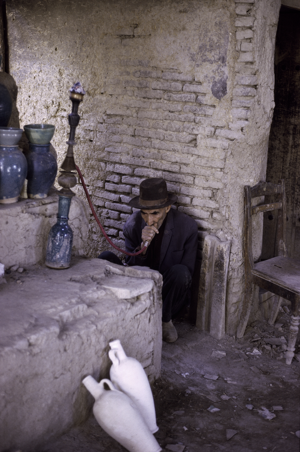 Man Smoking Hookah, Shiraz Bazar, 1967