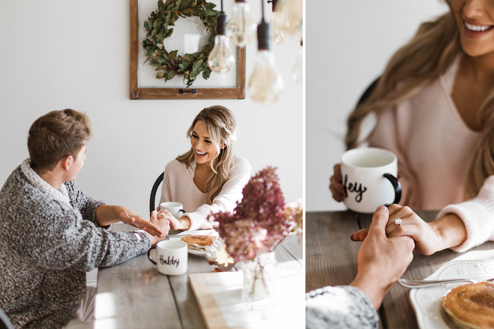 In Home Engagement Minnesota Photographer