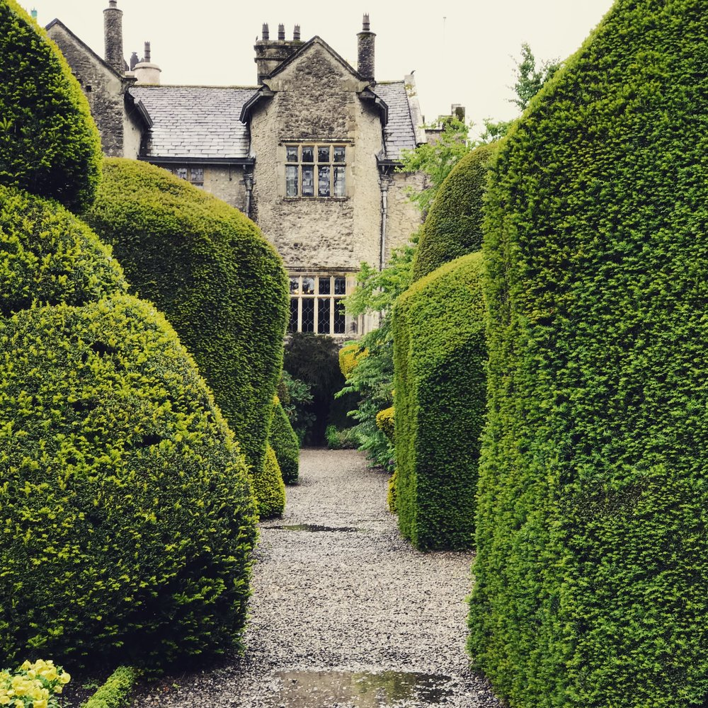 Levens Hall : house and its topiary garden.