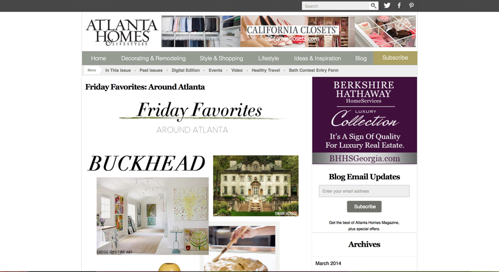 Atlanta Homes and Lifestyles Blog