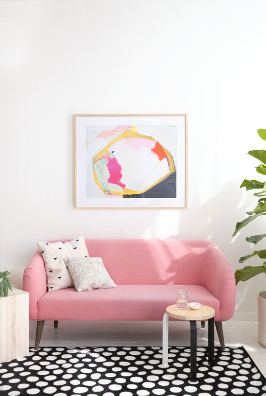 When DesignLoveFest founder and editor Bri Emery was outfitting her sunny, new L.A. studio, she selected Navy Geo for its fun, vibrant colors. Read more about it here: http://bit.ly/1ecvzi3