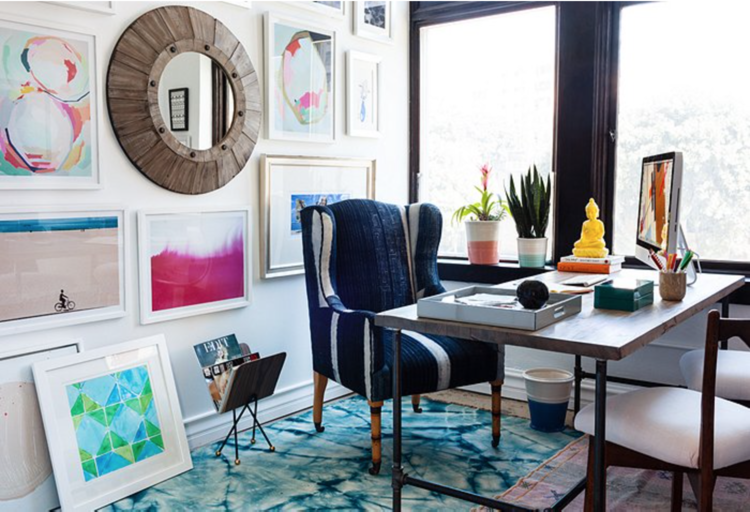 TV personality and fashion designer Whitney Port included Navy Geo in the design scheme of her newly revamped L.A. office. View the entire makeover here: http://bit.ly/1Bx6U35
