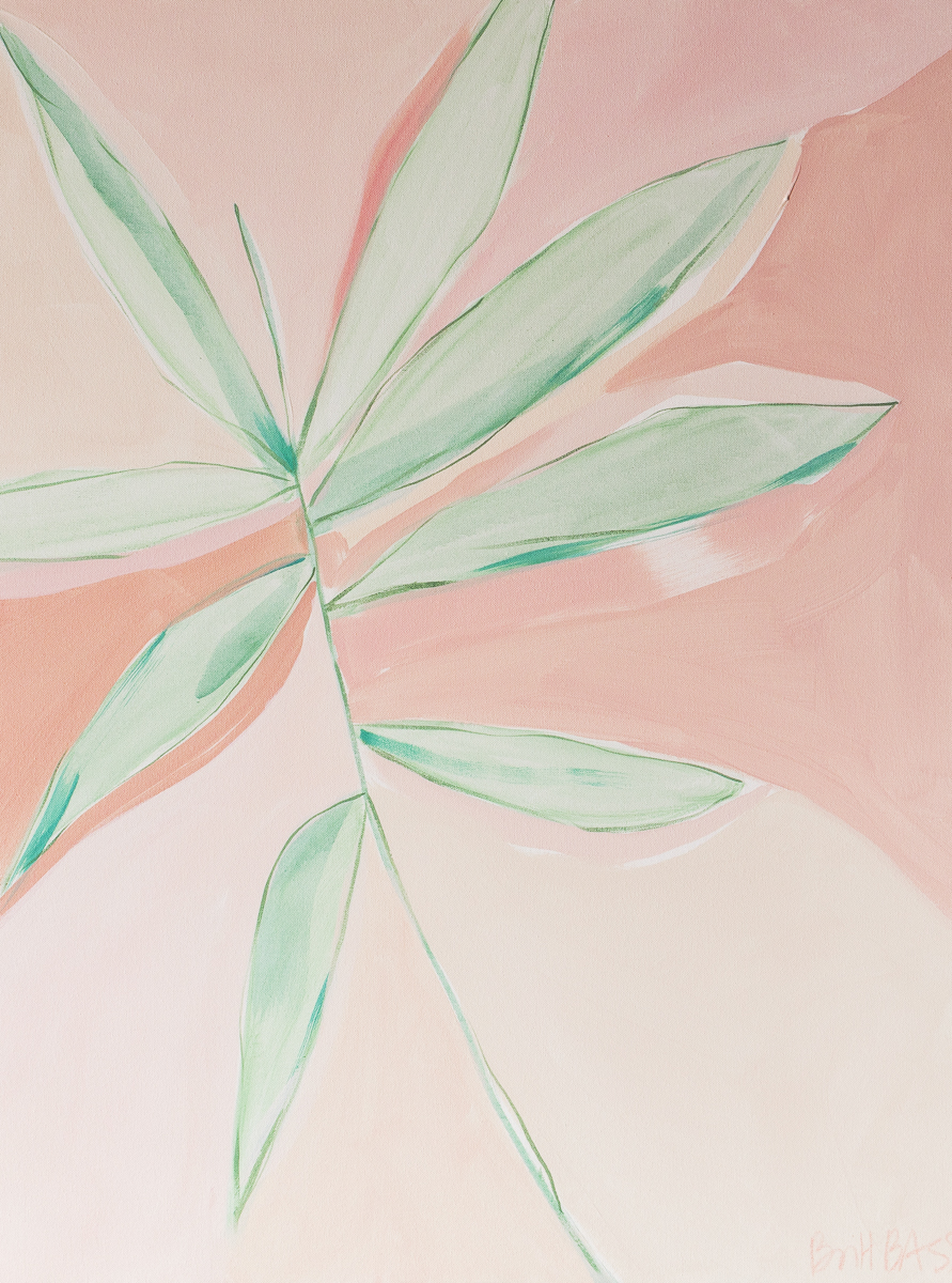 "PINK AND GREEN 2 30X40""  mixed media on stretched canvas Available exclusively at Uprise Art"
