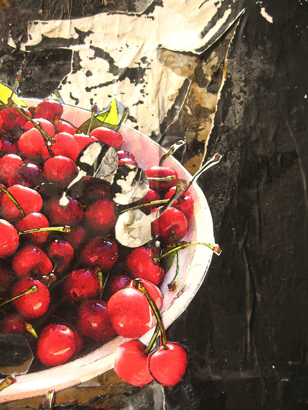 Bowl of Cherries on Howard St. (detail), NYC