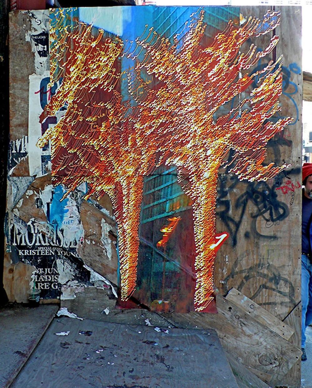 Twin Trees of Light on Lispenard, NYC