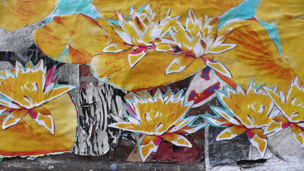 Water Lillies (detail), Chelsea, NYC
