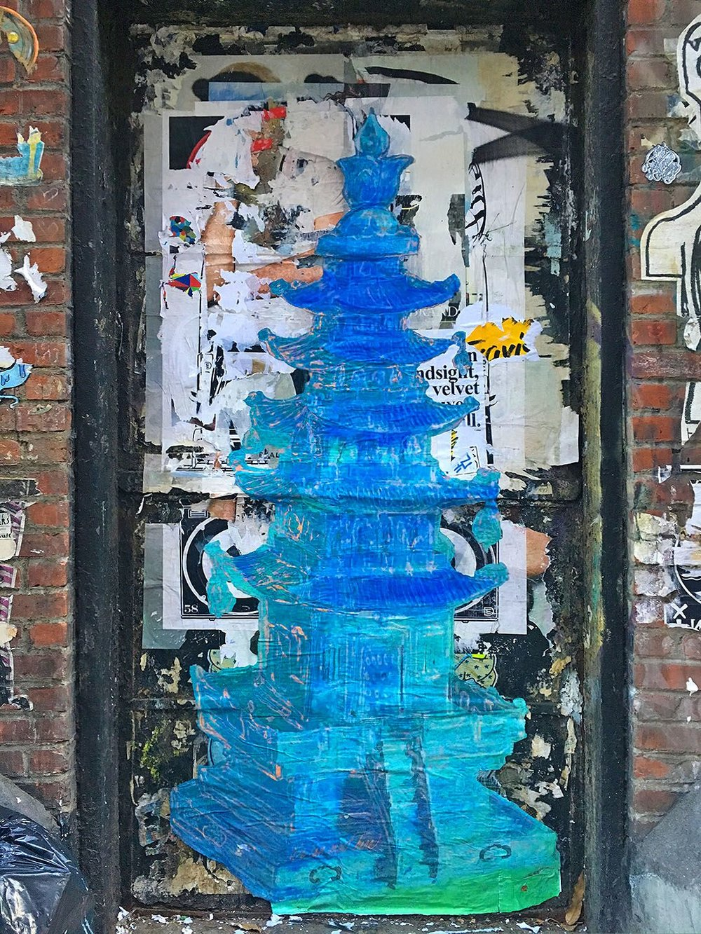 Blue Pagoda, Spring St., NYC