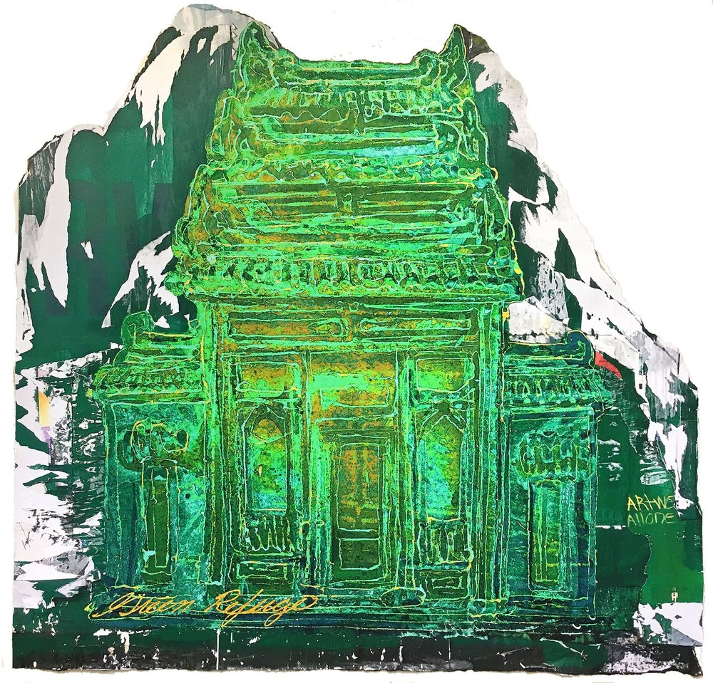 Scroll:  Green Refuge (Spring St., NYC)