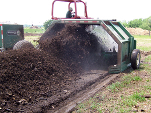 2. Compost production through aeration and water.