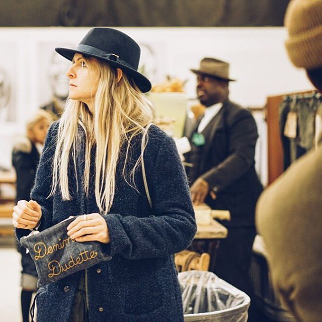 Amy Leverton aka Denim Dudette of @denimdudes checking out @libertyfairs #FreedomHall