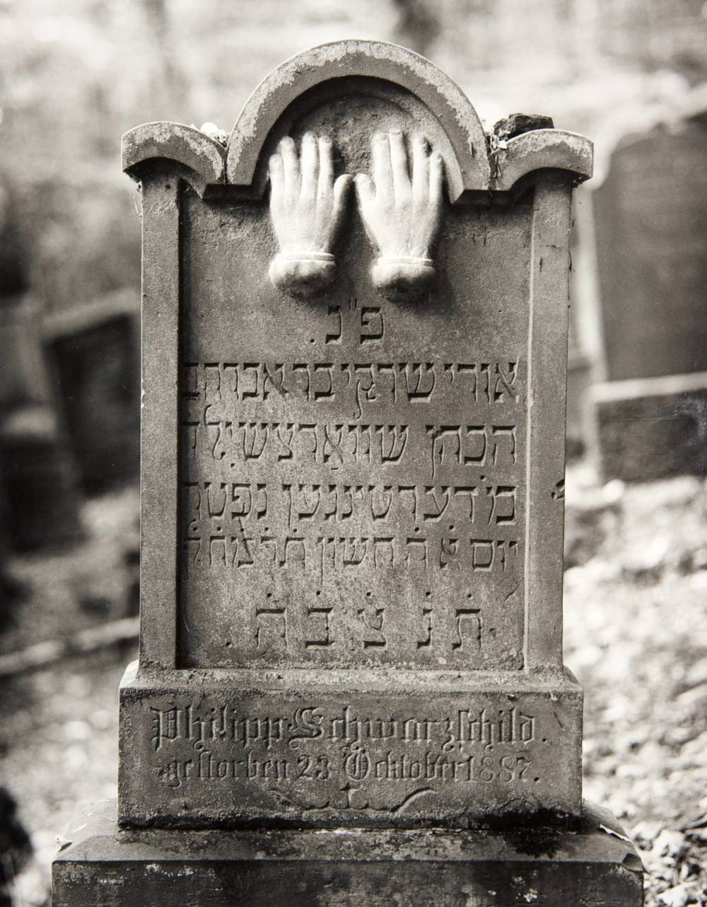 Hands (Infant's Gravestone, Wertheim, Germany)