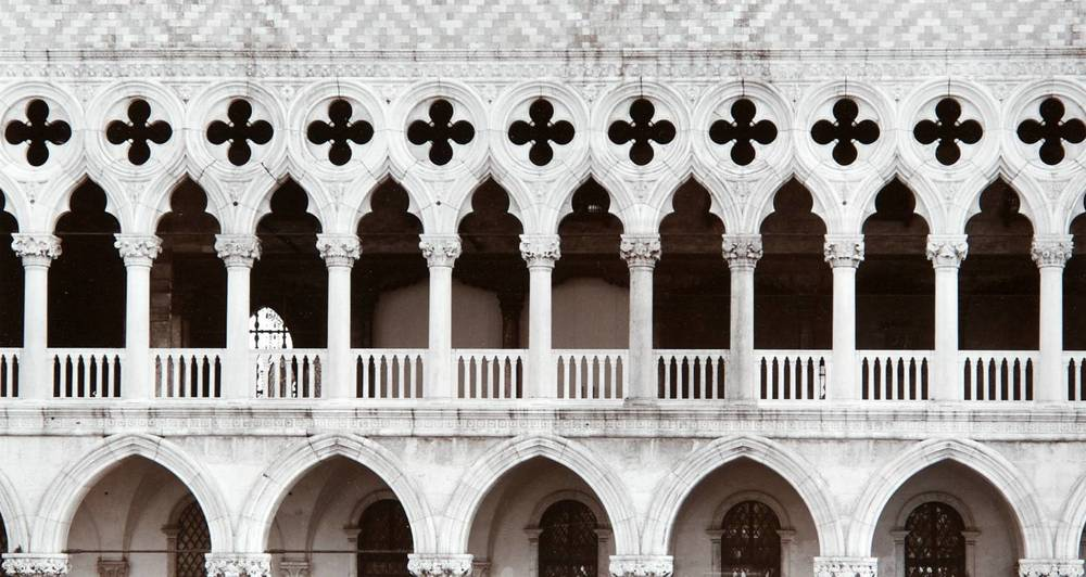 Columns at Palazzo Ducale (Venice, Italy)
