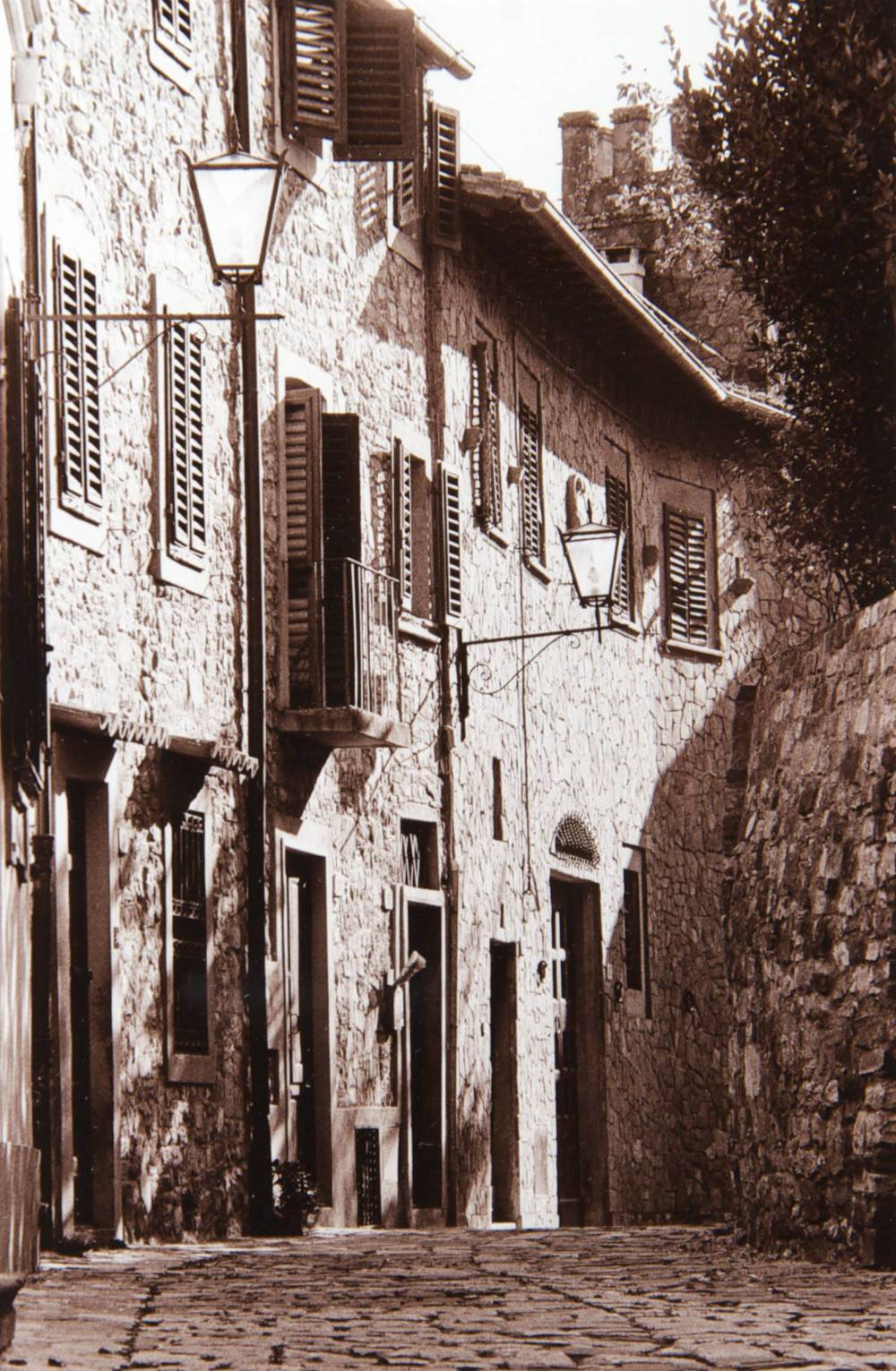 Street (Montefioralle in Chianti, Italy)