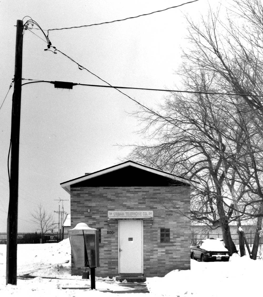 Telephone Company in Winter (Bowler, Wisconsin)