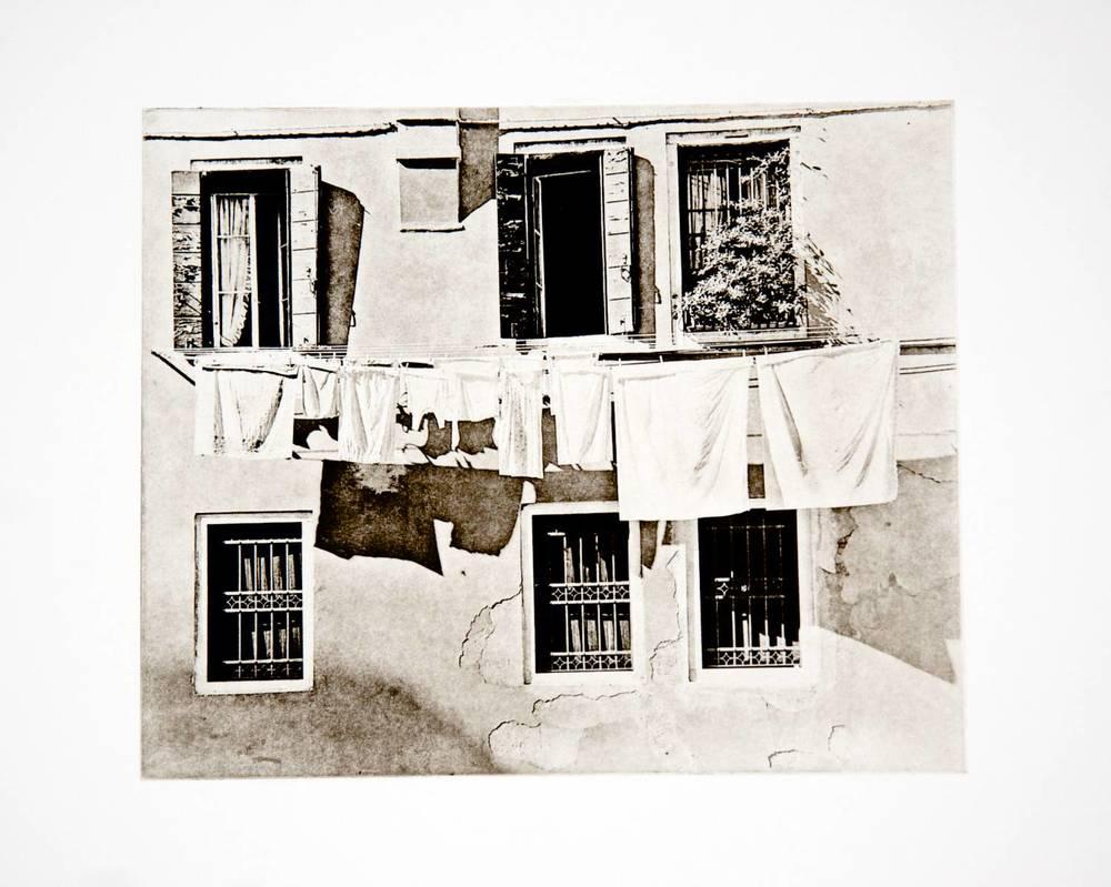 Clothesline (Portico Pisani, Venice)