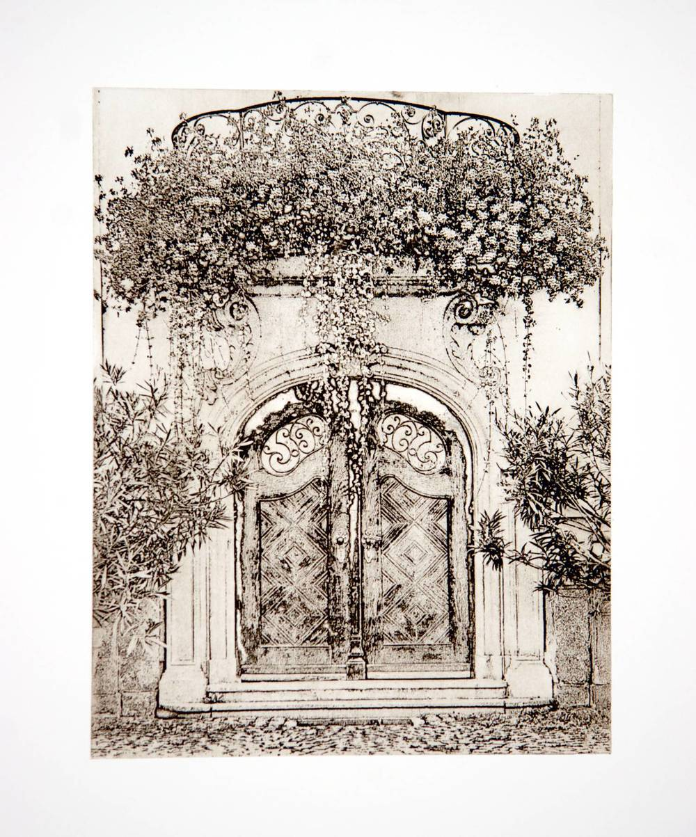 Doors in Passau (Germany) Relief Print