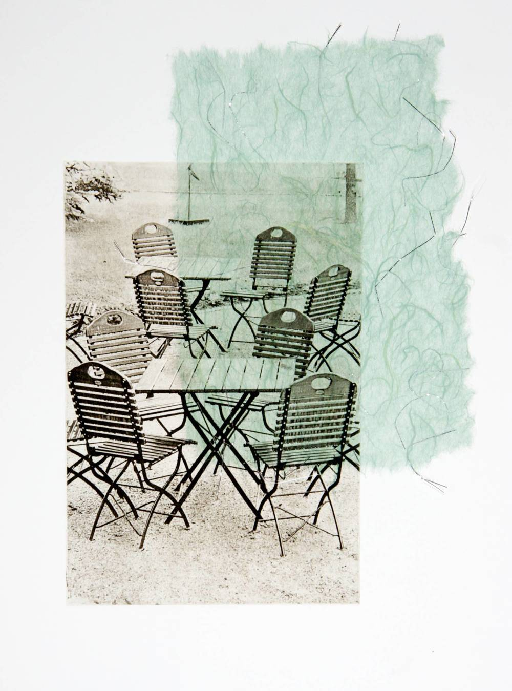 Chairs chine-collé (silver thread)