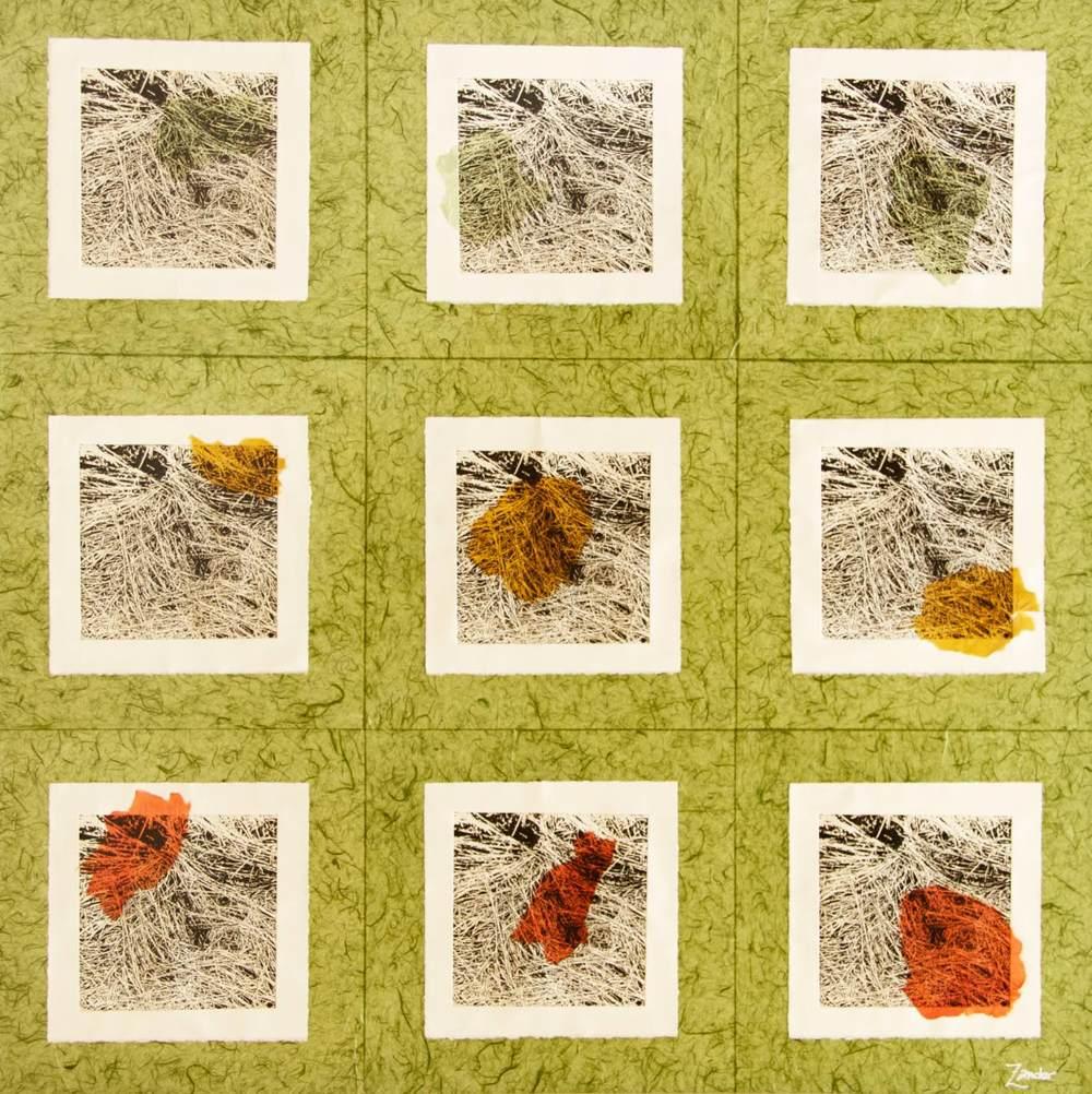 """Grass (Chine-collé) 48""""x48"""""""