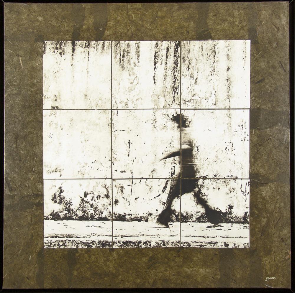 """Walking Man (41""""x41"""")"""
