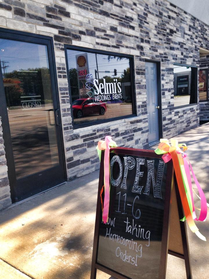 "Opening day at the new ""Selmi's Flower Bar"""