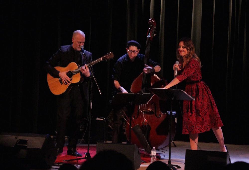 With Eric St-Laurent & Rachel Melas at L'Alliance française de Toronto, November 10, 2017