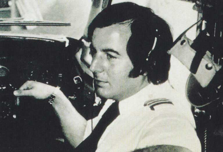 Frank Abagnale in the cockpit of a Pan Am jet.