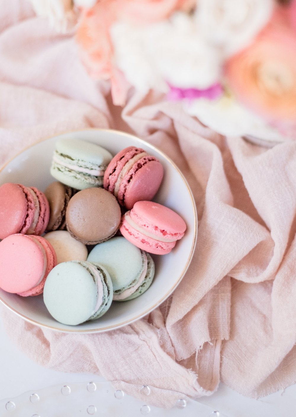 Quick tip: You can easily grab yummy (and pretty) macarons from Trader Joe's or a bakery!